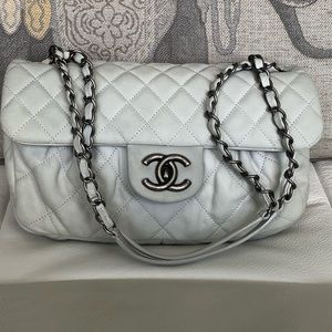 Chanel Flap Bag White Quilted Calfskin Quilt
